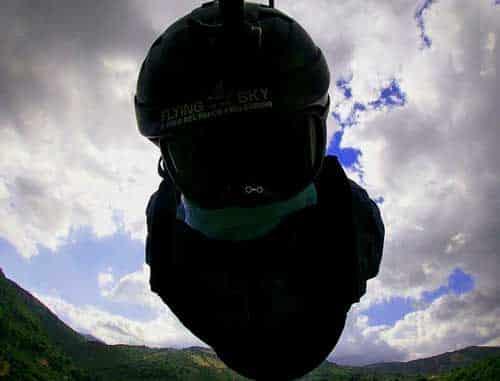 volare con la corda in cielo