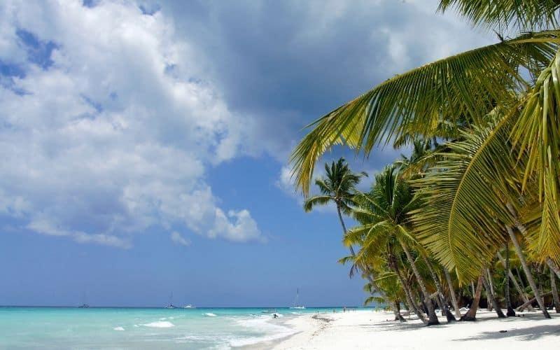 Isola di Saona nel mar dei Caraibi